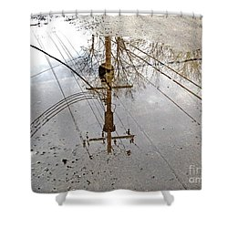 Puddle Reflections  Shower Curtain by Sandra Church