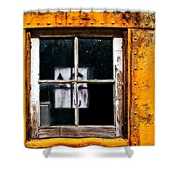 Shower Curtain featuring the photograph Reflection Of Light In The Midst Of Decay by Lita Kelley
