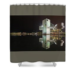 Reflection Of Rock And Roll In Cleveland Shower Curtain