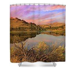 Reflection Of Scenic High Desert Landscape In Central Oregon Shower Curtain