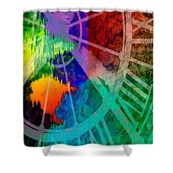 Reflection Of Time Shower Curtain by Brian Roscorla