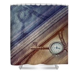 Reflection Of Time Shower Curtain