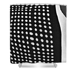 Shower Curtain featuring the photograph Reflection On 42nd Street 1 Grayscale by Sarah Loft