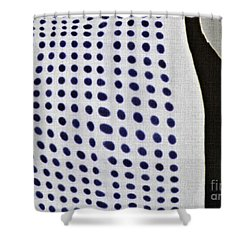 Shower Curtain featuring the photograph Reflection On 42nd Street 1 Negative by Sarah Loft