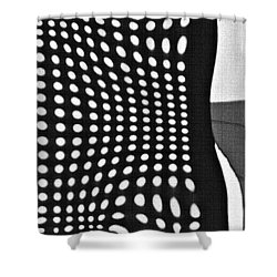 Shower Curtain featuring the photograph Reflection On 42nd Street 2 Grayscale by Sarah Loft