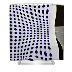 Shower Curtain featuring the photograph Reflection On 42nd Street 2 Negative by Sarah Loft