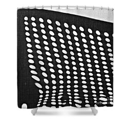 Shower Curtain featuring the photograph Reflection On 42nd Street 3 Grayscale by Sarah Loft