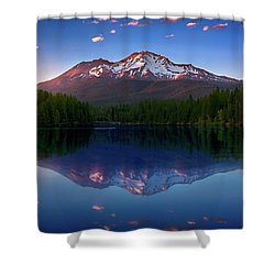 Reflection On California's Lake Siskiyou Shower Curtain