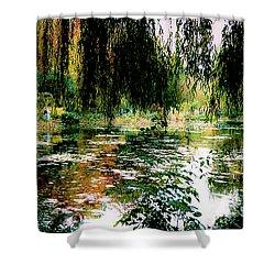 Reflection On Oscar - Claude Monet's Garden Pond Shower Curtain