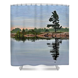 Reflection On The Bay Shower Curtain
