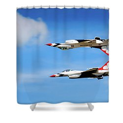 Shower Curtain featuring the photograph Reflection Pass by Bryan Carter