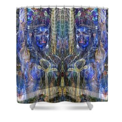 Reflection Refraction Shower Curtain