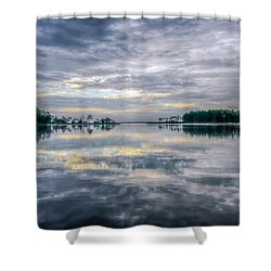 Shower Curtain featuring the photograph Reflection by Rob Sellers