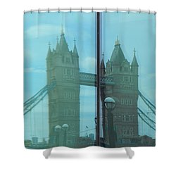 Reflection Tower Bridge Shower Curtain