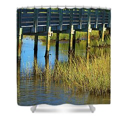 Reflections And Sea Grass Shower Curtain