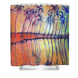 Shower Curtain featuring the painting Reflections by Angela Treat Lyon