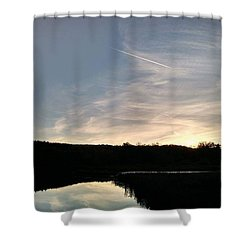 Reflections At Dusk Shower Curtain