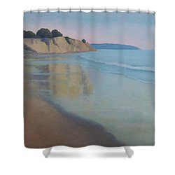 Reflections At Summerland Beach Series 3 Shower Curtain