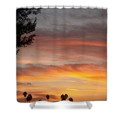 Reflections At The Close Of Day Shower Curtain by Glenn McCarthy Art and Photography