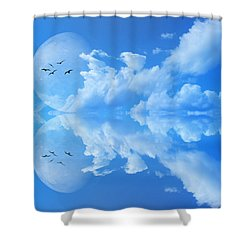 Shower Curtain featuring the photograph Reflections by Bernd Hau