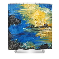 Reflections Shower Curtain by Dayna Lopez