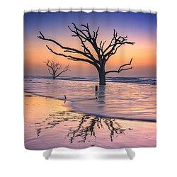 Reflections Erased - Botany Bay Shower Curtain by Rick Berk