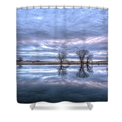 Reflections Shower Curtain by Fiskr Larsen