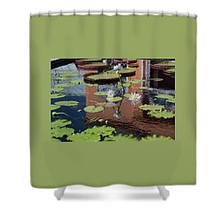 Reflections II Shower Curtain by Suzanne Gaff