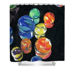 Reflections In Black Shower Curtain
