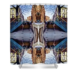 Reflections In Frederick, Maryland Shower Curtain
