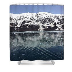 Reflections In Icy Point Alaska Shower Curtain