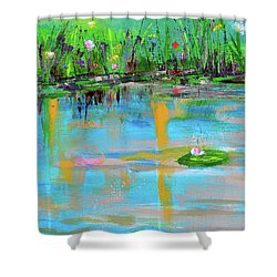 Reflections In Spring Shower Curtain