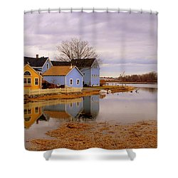 Reflections In The Harbor Shower Curtain