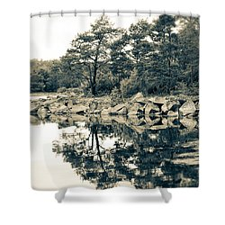 Shower Curtain featuring the photograph Reflections by Karen Stahlros