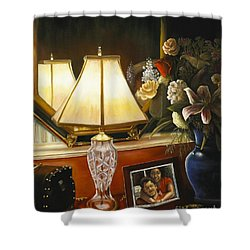 Shower Curtain featuring the painting Reflections by Marlene Book