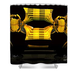 Shower Curtain featuring the digital art Reflections by Melissa Messick