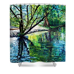 Trees Reflections Shower Curtain
