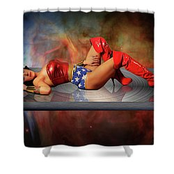 Reflections Of A Wonder Woman Shower Curtain
