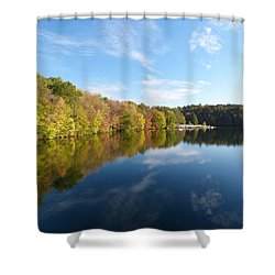 Reflections Of Autumn Shower Curtain by Donald C Morgan
