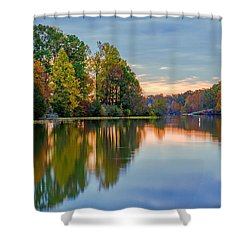 Reflections Of Autumn Shower Curtain
