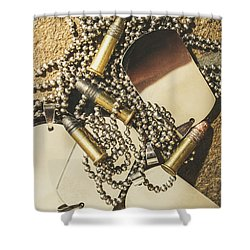 Shower Curtain featuring the photograph Reflections Of Battle by Jorgo Photography - Wall Art Gallery