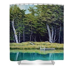Reflections Of Birches Shower Curtain