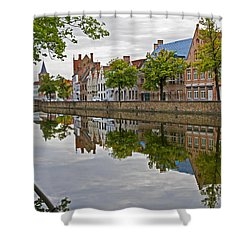 Reflections Of Brugge Shower Curtain