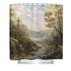 Reflections Of Calm  Shower Curtain
