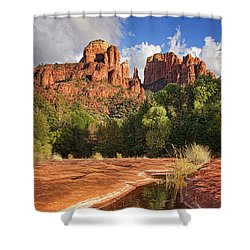 Reflections Of Cathedral Rock Shower Curtain