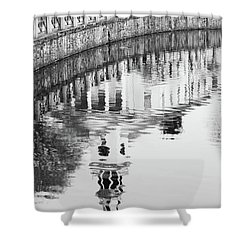 Reflections Of Church 2 Shower Curtain by Karol Livote