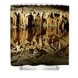 Reflections Of Dream Lake At Luray Caverns Shower Curtain by Paul Ward