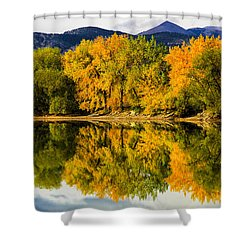 Reflections Of Fall Shower Curtain by Juli Ellen