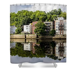 Reflections Of Haverhill On The Merrimack River Shower Curtain