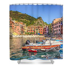 Reflections Of Italy Shower Curtain by Brent Durken